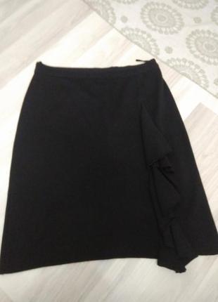 Теплая трикотажная юбка