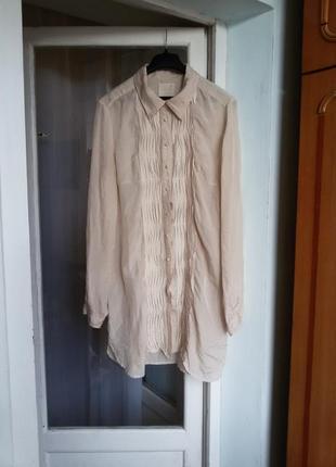 Длинная шелковая рубашка inwear 100% шелк