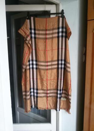 Кашемировый шарф /палантин burberry 100% кашемир