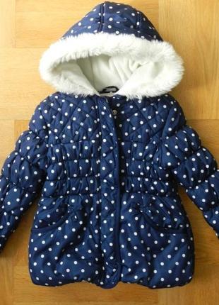 104-110 см george яркая нарядная теплая на флисе куртка демисезонная зимняя еврозима