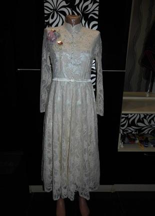 Очень нарядное свадебное платье в стиле ретро  - vshop- m  - этикетка!