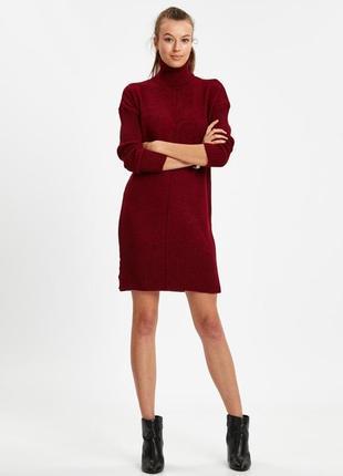Теплое вязанное платье свитер lc waikiki м