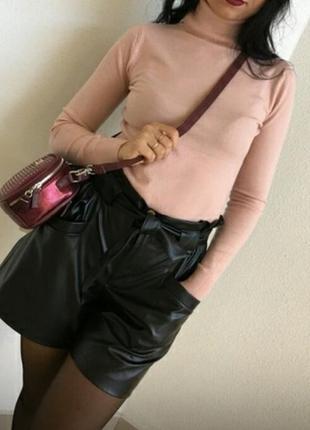 Гольф милано кашемир теплый свитер 42-56   светлая пудра (приглушенная)