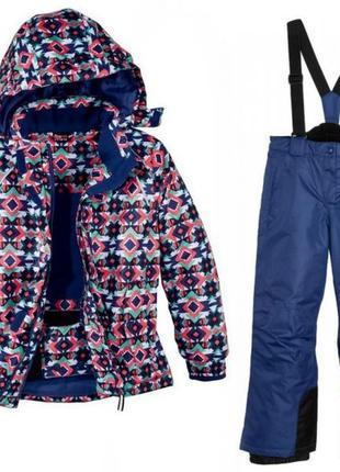 Лыжный термо-костюм, термо-куртка, термо-штаны crivit sports на девочку, р.134-140