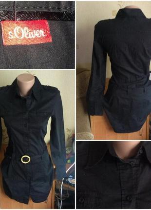 Чёрная рубашка - туника
