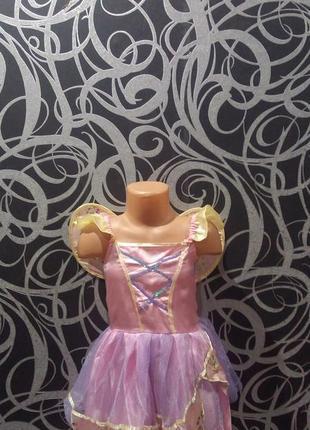 Новогоднее платье феи,крылья,пышное,5-6л