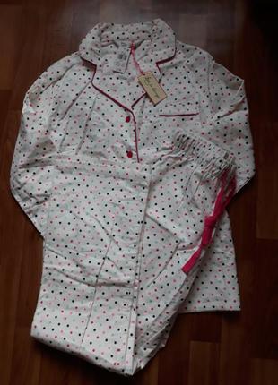 Теплая байковая пижама love to lounge размер 38-40