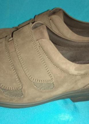 Новые кожаные туфли полуботинки cosyfeet (англия ) р 43-44 на очень широк ногу