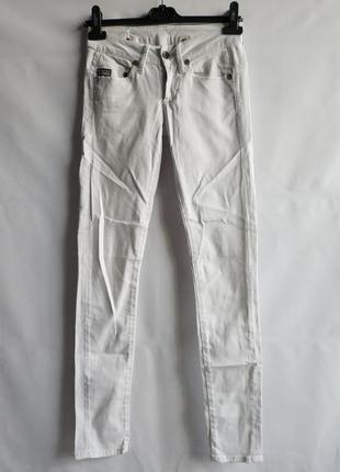Крутые белые джинсы  голландского бренда g-star raw denim  нюанс, xxs-xs