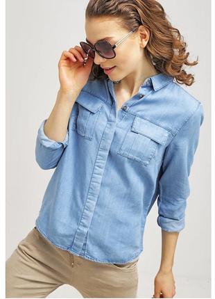 Стильная джинсовая рубашка из 100% лиоцелла