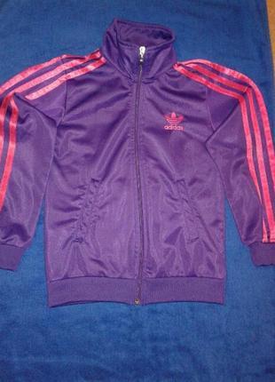 Спортивная кофта, олимпийка adidas на девочку.