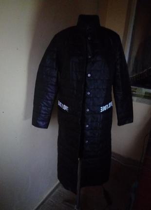 Длинная куртка синтепон