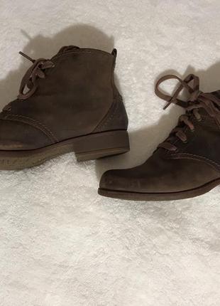 Кожаные ботинки timberland.