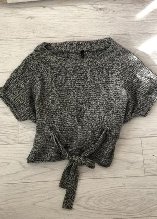 Кофта тёплая женственная серая свитер от topshop 6