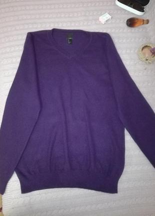Фиолетовый кашемировый свитерок (100% кашемир), р.l/xl