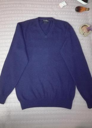 Сине-фиолетовый кашемировый свитерок, р.l