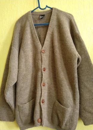 Очень теплый мужской кардиган amauta, альпака. для основательного мужчины.