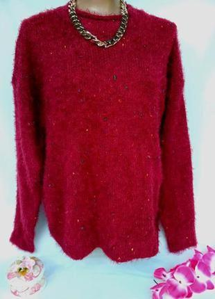 Тёпленький,мягенький свитерок большого размера - 50 - 52
