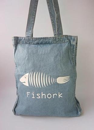 Джинсовая сумка fishor