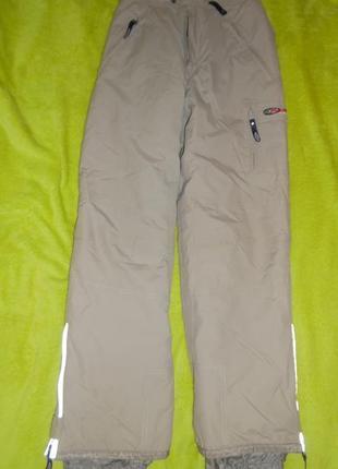 Брюки штаны 134-146 зимние зима комбинезон тёплые бежевый цвет