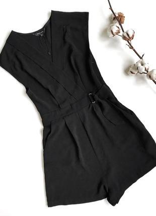 Черный ромпер комбинезон new look