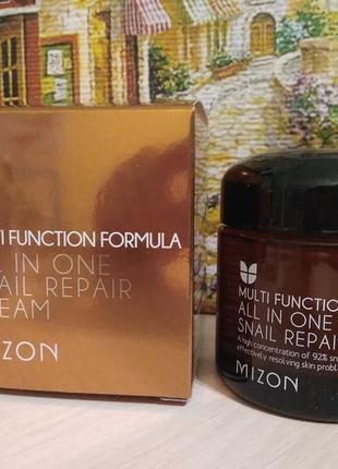 Mizon, all in one snail repair cream улиточный крем