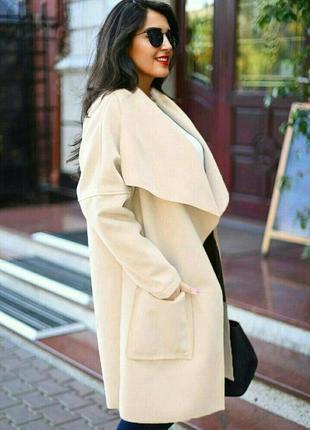 Пальто кардиган з широким поясом і кишенями, батал