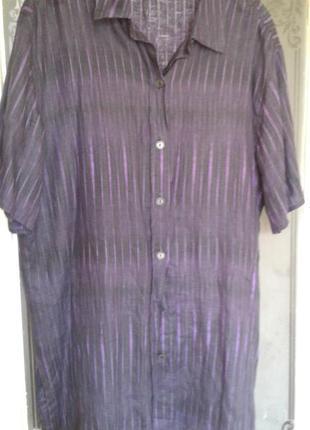 Шикарная льняная рубашка marina rinaldi