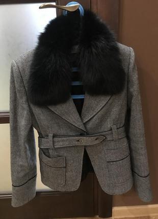 Курточка-піджак з натуральним хутром