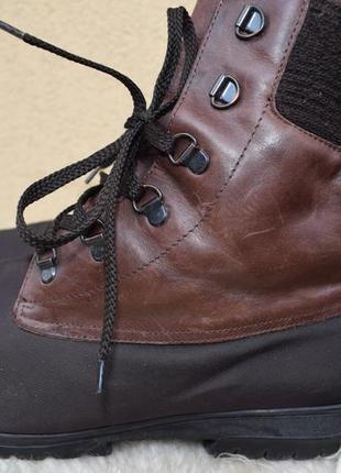 Кожаные+мембранные gore tex ботинки зимние р.7 р.40 26 см