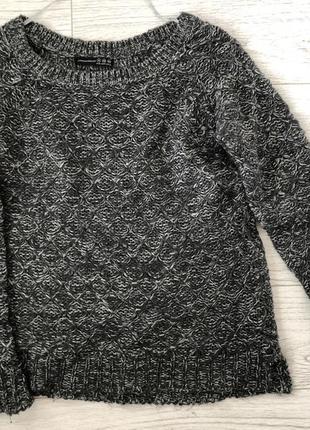 Красивый серый свитер с серебристой нитью от atmoshpere 14
