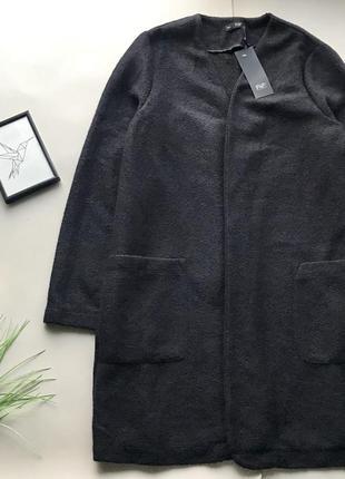 Стильньное чёрное пальто кардиган / накидка f&f