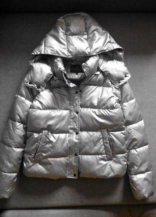 Серебристая дутая куртка review