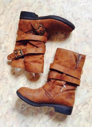 Супер меховые ботинки демисезон