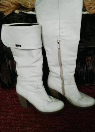 Белые сапоги женские 2019 - купить недорого вещи в интернет-магазине ... 44cdb24bc0694