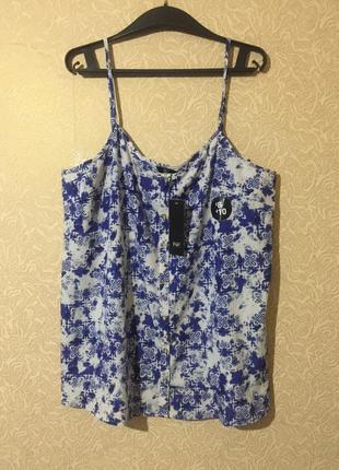 Новая фирменная шифоновая майка/блуза f&f, большой размер 5xl