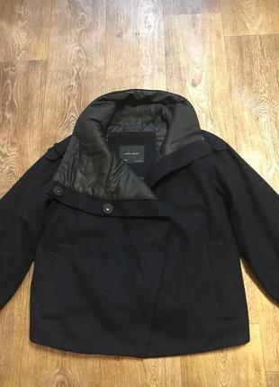 Утепленное пальто zara (оригинал)