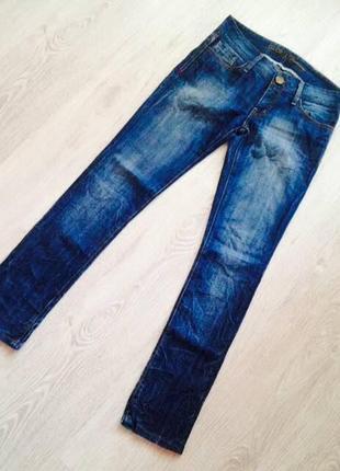 Женские молодёжные тёмно-синие джинсы gloria jeans premium