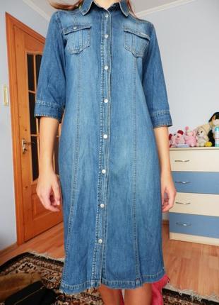 Джинсове плаття-накидка/джинсовое платье-накидка