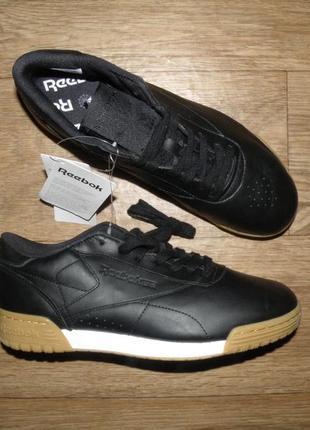 Кожаные оригинальные  кроссовки reebok gum exofit lo clean р-р 40 26см
