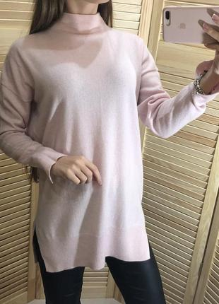 Натуральный кашемировый свитер с разрезами
