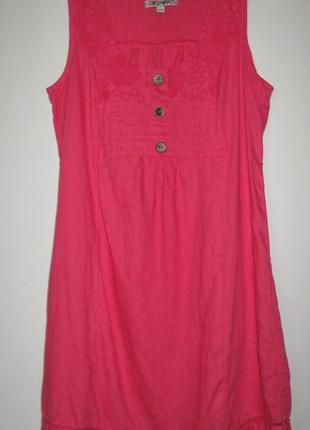 Летние платьица-распродажа 50-120 грн!!! розовое льняное с пояском