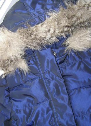 Замечательная зимняя куртка -пуховик на девочку от бренда gap 6-7 лет