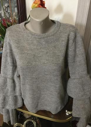 Шикарная кофта, свитер италия, шерсть, мохер!