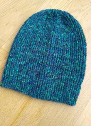 Изумрудная шапка 30% шерсти