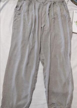 Штапельные серые штаны