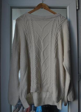 Офигенный свободный свитер оверсайз с широким рукавам f&f
