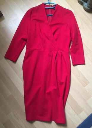 Красное платье миди asos