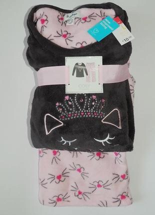 Очень теплая женская пижамка, пушистый флис, primark, англия. размер 4-6 и 14-16