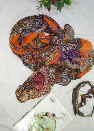 Шарф платок оранжевый
